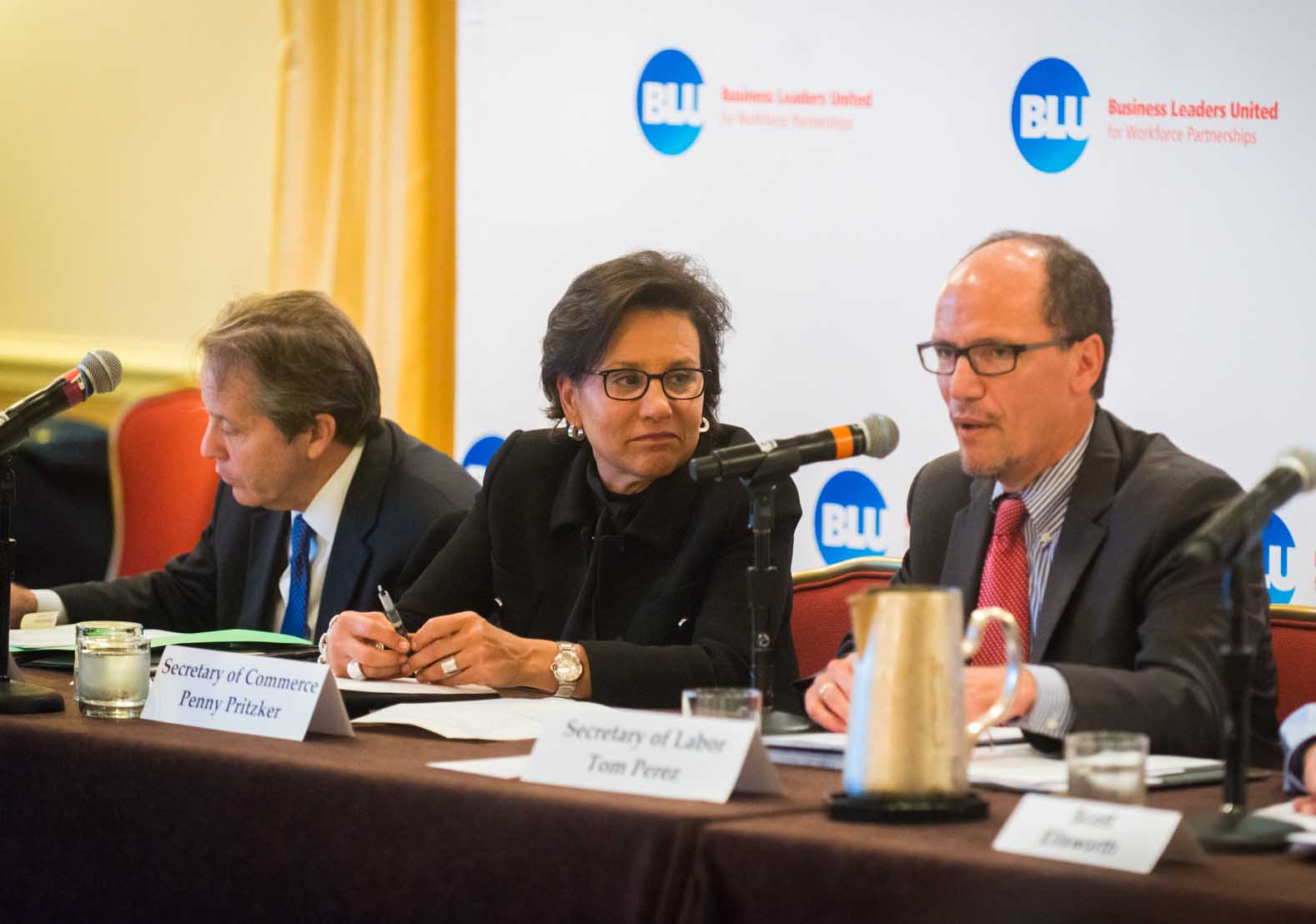 Secretary of Commerce Penny Pritzker and Secretary of Labor Tom Perez Discuss Skills Gap with BLU